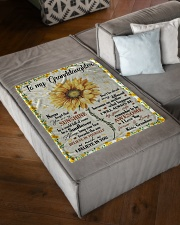 "YOU ARE MY SUNSHINE - GRANDMA TO GRANDDAUGHTER Small Fleece Blanket - 30"" x 40"" aos-coral-fleece-blanket-30x40-lifestyle-front-03"