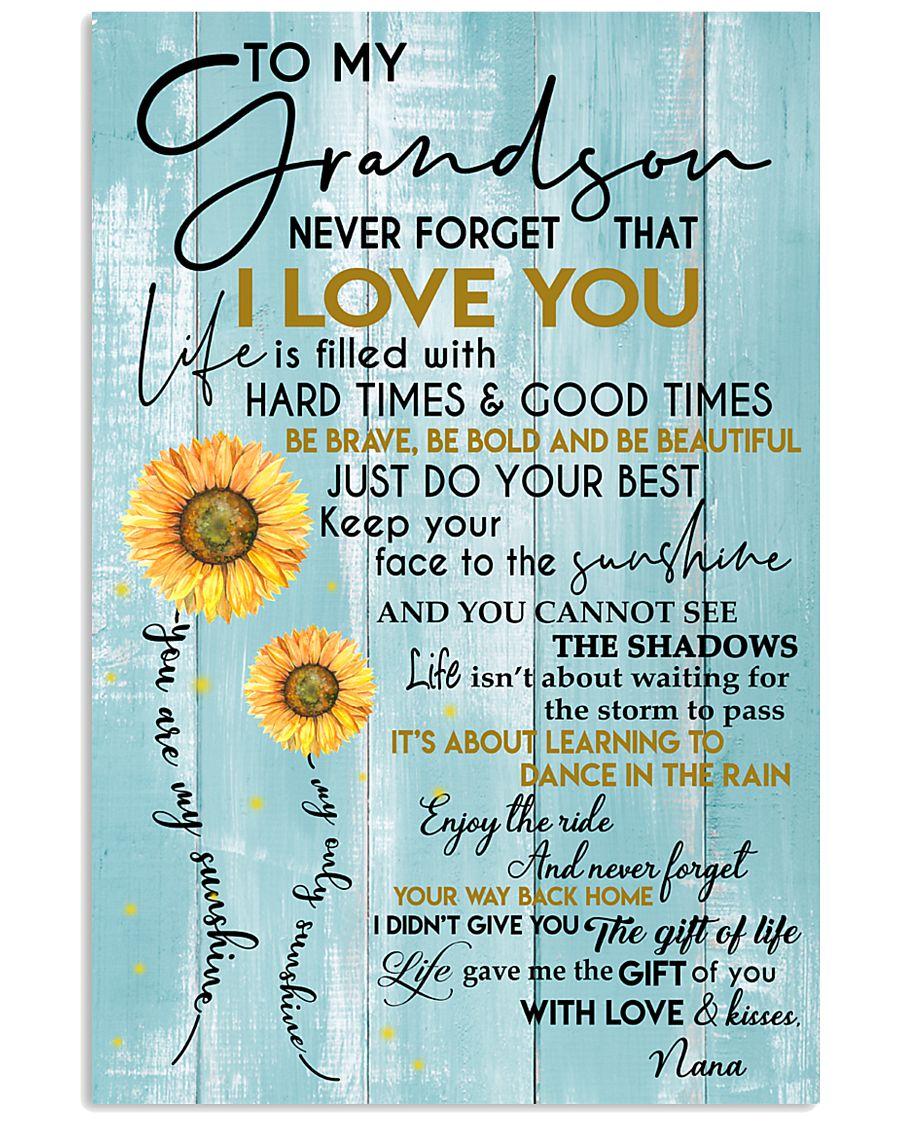 tqh-htgt-GRANDSON-NANA-gift 11x17 Poster