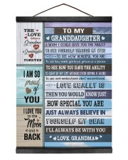 PROUD OF YOU - PERFECT GIFT FOR GRANDDAUGHTER 12x16 Black Hanging Canvas thumbnail