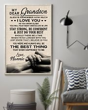 THE BEST THING - TO GRANDSON FROM NANNIE 11x17 Poster lifestyle-poster-1