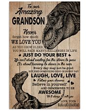 WE LOVE YOU - NANA AND GRANDAD TO GRANDSON 11x17 Poster front