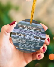 BELIEVE IN YOURSELF - LOVELY GIFT FOR GRANDSON Circle ornament - single (porcelain) aos-circle-ornament-single-porcelain-lifestyles-09