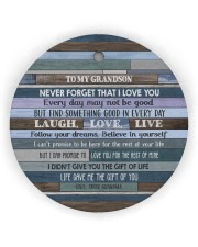 BELIEVE IN YOURSELF - LOVELY GIFT FOR GRANDSON Circle Ornament (Wood tile