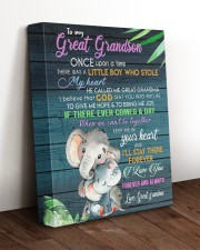 MY HEART - AMAZING GIFT FOR GREAT GRANDSON 11x14 Gallery Wrapped Canvas Prints aos-canvas-pgw-11x14-lifestyle-front-17