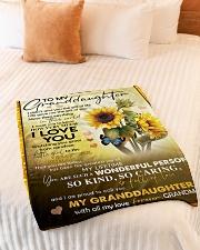 "I LOVE YOU - GRANDMA TO GRANDDAUGHTER Small Fleece Blanket - 30"" x 40"" aos-coral-fleece-blanket-30x40-lifestyle-front-01"