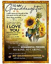 I LOVE YOU - GRANDMA TO GRANDDAUGHTER Fleece Blanket tile