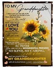 """I LOVE YOU - LOVELY GIFT FOR GRANDDAUGHTER Small Fleece Blanket - 30"""" x 40"""" front"""