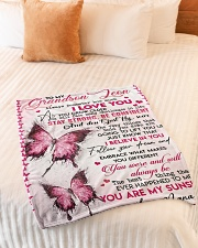 """YOU ARE MY SUNSHINE - BEST GIFT FOR GRANDSON Small Fleece Blanket - 30"""" x 40"""" aos-coral-fleece-blanket-30x40-lifestyle-front-01"""