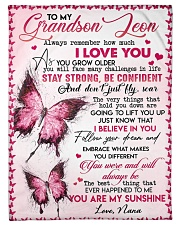"""YOU ARE MY SUNSHINE - BEST GIFT FOR GRANDSON Small Fleece Blanket - 30"""" x 40"""" front"""