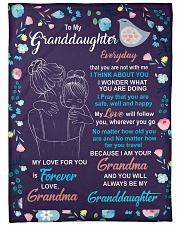 """I THINK ABOUT YOU - AMAZING GIFT FOR GRANDDAUGHTER Large Fleece Blanket - 60"""" x 80"""" thumbnail"""
