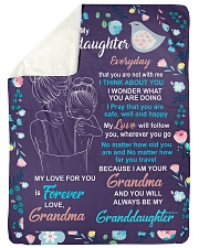 """I THINK ABOUT YOU - AMAZING GIFT FOR GRANDDAUGHTER Large Sherpa Fleece Blanket - 60"""" x 80"""" thumbnail"""