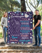 """I THINK ABOUT YOU - AMAZING GIFT FOR GRANDDAUGHTER Quilt 50""""x60"""" - Throw aos-quilt-50x60-lifestyle-front-04"""