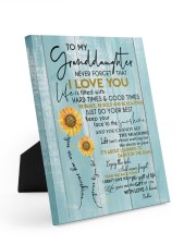 KEEP YOUR FACE TO THE SUNSHINE FOR GRANDDAUGHTER  8x10 Easel-Back Gallery Wrapped Canvas thumbnail