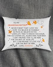 I LOVE YOU - LOVELY GIFT FOR GRANDDAUGHTER Rectangular Pillowcase aos-pillow-rectangle-front-lifestyle-1