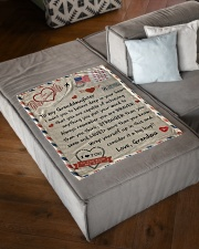 """A BIG HUG - GIFT FOR GRANDDAUGHTER FROM GRANDMA Small Fleece Blanket - 30"""" x 40"""" aos-coral-fleece-blanket-30x40-lifestyle-front-03"""