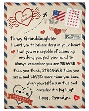 """A BIG HUG - GIFT FOR GRANDDAUGHTER FROM GRANDMA Small Fleece Blanket - 30"""" x 40"""" front"""