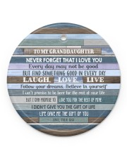 FOLLOW YOUR DREAMS - GIFT FOR GRANDDAUGHTER Circle ornament - single (porcelain) front