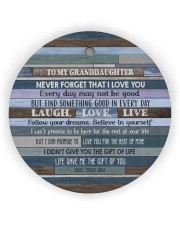 FOLLOW YOUR DREAMS - GIFT FOR GRANDDAUGHTER Circle Ornament (Wood tile