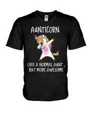 Aunt Unicorn V-Neck T-Shirt thumbnail
