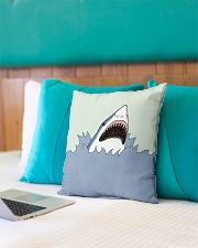"Shark Vector art Indoor Pillow - 16"" x 16"" aos-decorative-pillow-lifestyle-front-10"