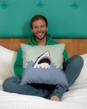 "Shark Vector art Indoor Pillow - 16"" x 16"" aos-decorative-pillow-lifestyle-front-12"