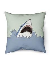 "Shark Vector art Indoor Pillow - 16"" x 16"" back"