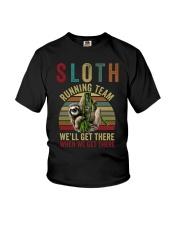 Sloth Running Team Youth T-Shirt thumbnail