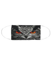 Owl face Cloth face mask aos-face-mask-coverlet-lifestyle-front-01