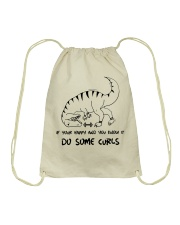 If Your Happy And You Know It Do Curls Drawstring Bag thumbnail
