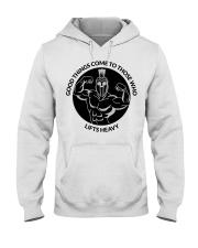 Good Things Come Gym Design Hooded Sweatshirt thumbnail