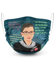 T-rbg-3107-Q179 2 Layer Face Mask - Single front