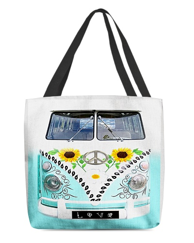 1 HIPPIE PEACE BUS ALL OVER TOTE