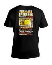 Forklift Operator Shirt V-Neck T-Shirt thumbnail