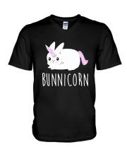 Bunnicorn Shirts -Funny Cute Shirts V-Neck T-Shirt thumbnail