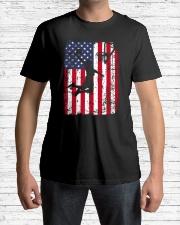 USA AMERICAN FLAG BASKETBALL SHIRTS Classic T-Shirt lifestyle-mens-crewneck-front-1