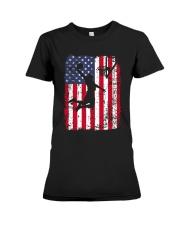 USA AMERICAN FLAG BASKETBALL SHIRTS Premium Fit Ladies Tee thumbnail