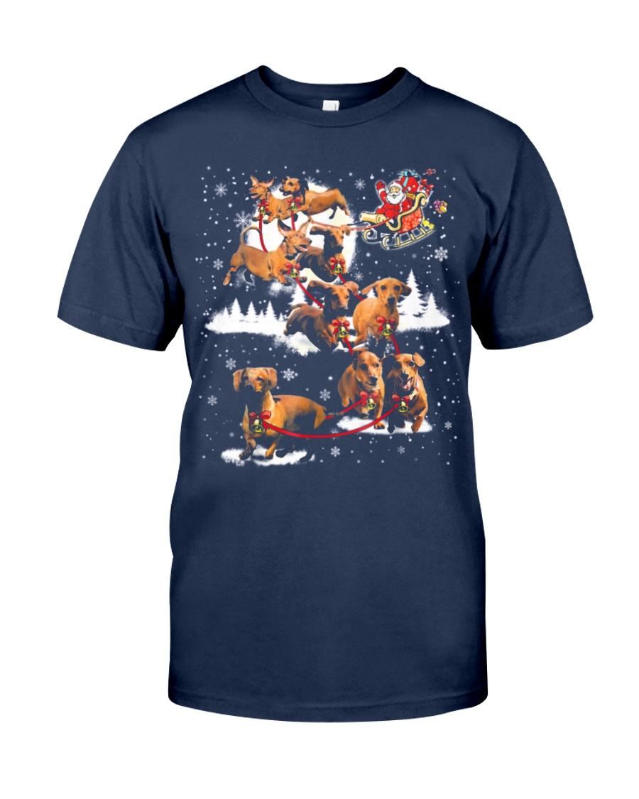 Reindeer Dachshund Dog Shirt Classic T-Shirt