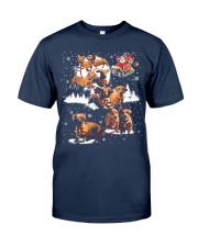 Reindeer Dachshund Dog Shirt Classic T-Shirt front