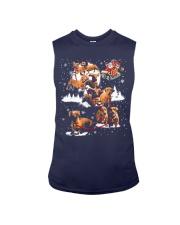 Reindeer Dachshund Dog Shirt Sleeveless Tee thumbnail