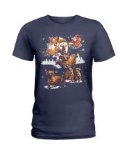 Reindeer Dachshund Dog Shirt Ladies T-Shirt thumbnail