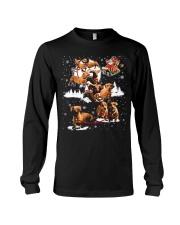 Reindeer Dachshund Dog Shirt Long Sleeve Tee thumbnail
