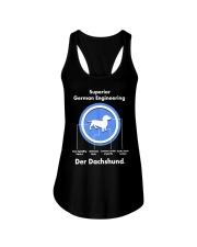 Dachshund Lovers Shirt - Der Dachshund Ladies Flowy Tank thumbnail
