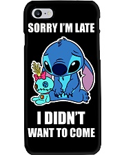 Sorry I'm late stich Phone Case thumbnail