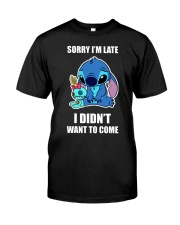 Sorry I'm late stich Classic T-Shirt front
