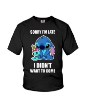 Sorry I'm late stich Youth T-Shirt thumbnail