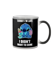 Sorry I'm late stich Color Changing Mug thumbnail