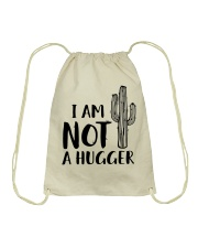 I AM NOT A HUGGER Drawstring Bag thumbnail