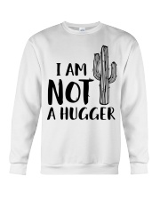 I AM NOT A HUGGER Crewneck Sweatshirt thumbnail