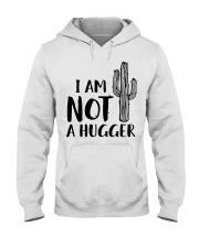 I AM NOT A HUGGER Hooded Sweatshirt thumbnail