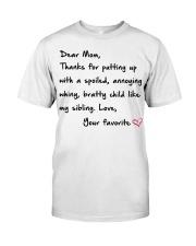 DEAR MOM Classic T-Shirt thumbnail